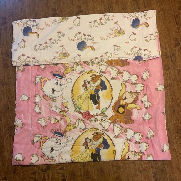 Disney Bedding Vintage 9s Beauty And The Beast Comforter Poshmark